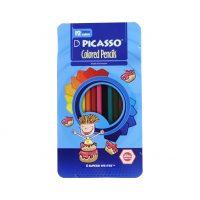 مداد رنگی 12 رنگ پیکاسو جعبه فلزی