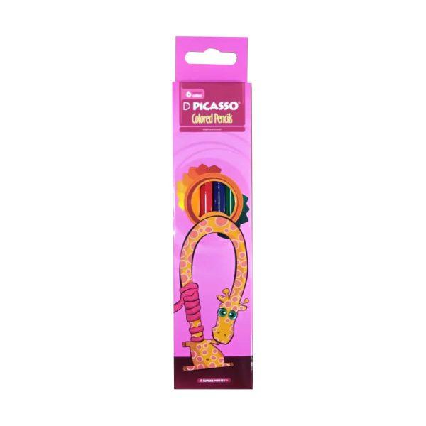 مداد رنگی 6 رنگ پیکاسو جعبه مقوایی