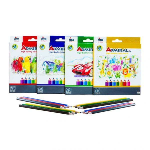 مداد رنگی 24 رنگ آدمیرال مدل MDF