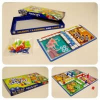 بازی منچ و مار پله جعبه ای