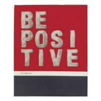 دفتر کلاسوری جلد سخت 100 برگ پاپکو مدل BE POSITIVE