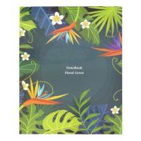 دفتر کلاسوری جلد سخت 100 برگ پاپکو مدل Floral Green