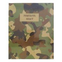 دفتر کلاسوری جلد سخت 100 برگ پاپکو مدل POWERFUL ARMY