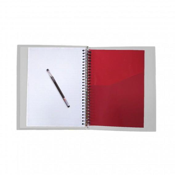 دفتر کلاسوری جلد سخت 100 برگ پاپکو مدل NATURE
