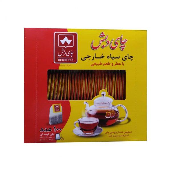 چای سیاه خارجی کیسه ای دبش بسته 100 عددی