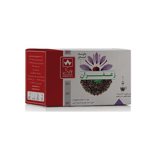 چای سیاه کیسه ای با زعفران طبیعی بسته 20 عددی