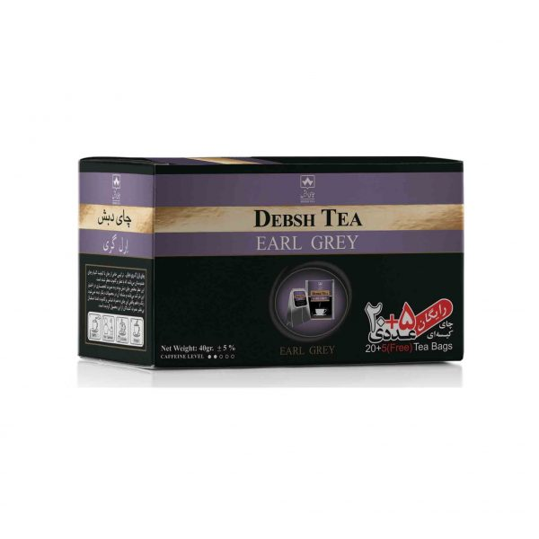 چای کیسه ای ارل گری دبش بسته 25 عددی