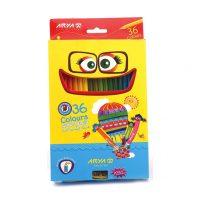 مداد رنگی 36 رنگ جعبه مقوایی آریا