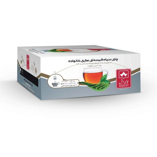 چای کیسه ای عطری خانواده دبش بسته 100 عددی