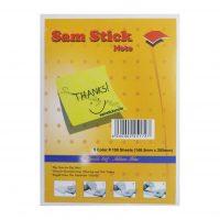 کاغذ یادداشت رنگی چسبی Sam Stick سایز A5