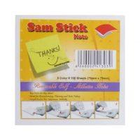 کاغذ یادداشت رنگی چسبی Sam Stick