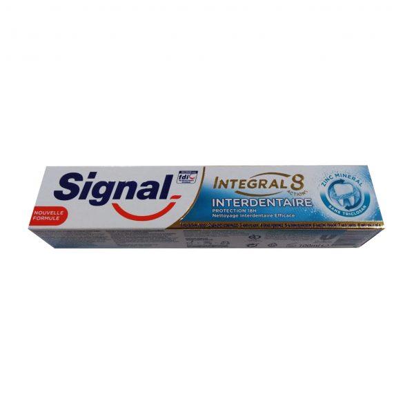خمیر دندان سیگنال سری INTEGAL8 مدل interdentaire حجم ۱۰۰ میلی لیتر