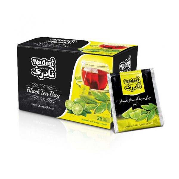 چاي سياه كيسه اي با طعم ليمو نادري بسته 25 عددي