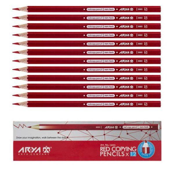 مداد قرمز آریا بسته 12 عددی