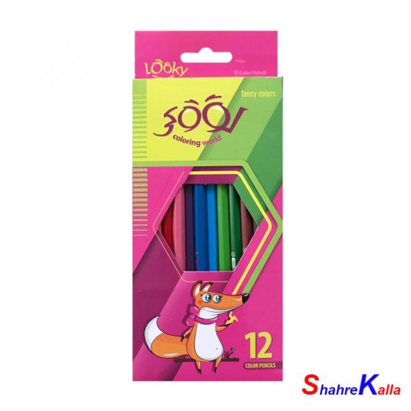 مداد رنگی 12 رنگ لوکی